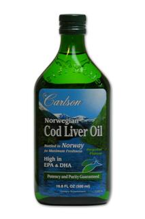 From the deep, unpolluted waters near Norway, Carlson brings you the finest cod liver oil which is naturally rich in Vitamin A, Vitamin D3, EPA and DHA. Only cod fish caught during the winter and early spring are used, as the liver oil content is highest at this time of year. The oil is separated from the liver tissues without the use of chemicals. To ensure freshness of Carlson Norwegian Cod Liver Oil, the air inside the glass bottle has been replaced with nitrogen.