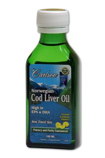 From the deep, unpolluted waters near Norway, Carlson brings you the finest cod liver oil which is naturally rich in Vitamin A, Vitamin D3, EPA and DHA. Only cod fish caught during the winter and early spring are used, as the liver oil content is highest at this time of year. The oil is separated from the liver tissues without the use of chemicals. To ensure freshness of Carlson Norwegian Cod Liver Oil, the air inside the glass bottle has been replaced with nitrogen. THIS PRODUCT is regularly tested (using AOAC international protocols) for freshness, potency and purity by an independent, FDA-registered laboratory and has been determined to be fresh, fully potent and free of detrimental levels of mercury, cadmium, lead, PCB's and 28 other contaminants..