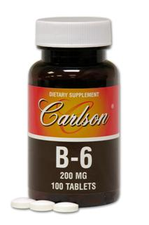 Vit B-6 200mg (100 tablets).