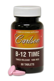 B-12 Time is formulated to provide a gradual release of Vitamin B-12 over a period of 3 to 5 hours for sustained absorption..