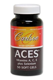 The sources of nutrients in ACES are chosen with care, Beta-Carotene (pro-Vitamin A) is derived from tiny plants, D. salina algae, which also supply minor amounts of other carotenoid antioxidants such as alpha carotene, cryptoxanthin, zeaxanthin, and lutein..