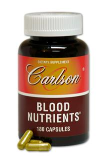 Carlson Labs formulated Blood Nutrients to help nourish tired old blood. Blood Nutrients from Carlson Labs is in stock and on sale..
