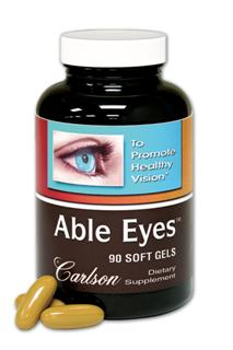 Able Eyes provides both lutein and DHA in one easy to swallow soft gelatin capsule..