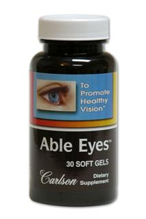 Able Eyes provides both lutein and DHA in one easy to swallow soft gelatin capsule.