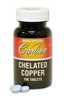 Carlson Chelated Copper is prepared to aid the absorption of copper. Chelation helps the body to transport minerals across the intestinal wall as part of digestion..