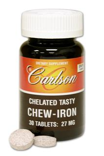Chew-Iron is an excellent way to supplement body cells with the iron they need. It is prepared to aid in the body's natural absorption of iron. The iron is chelated with glycine (an important building block of protein)..