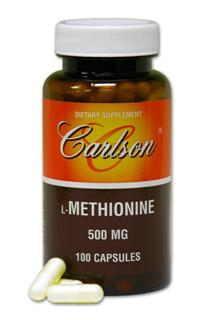 L-Methionine 500mg (100 Capsule).