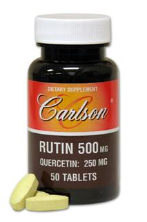 Support healthy circulation with Rutin by Carlson Labs. Each tablet delivers 500 mg of Rutin known to enhance the power of vitamin C..