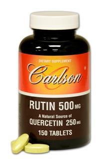 Promote healthy circulation with Rutin by Carlson Labs. Each tablet delivers 500 mg of Rutin known to enhance the power of vitamin C..