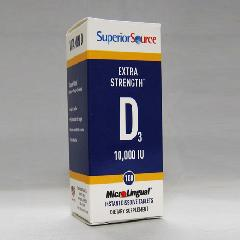 Superior Source Vitamins Vitamin D3 10,000 IU revolutionary Instant Dissolve Micro Tablet  providing Instant Release when placed under the tongue..