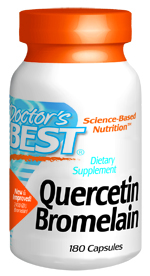 Quercetin modifies the body's response to antigenic substances, inhibits formation of free radicals and supports circulatory health by promoting integrity of tissues in small blood vessels. Bromelain supports tissue comfort and may enhance quercetin absorption..
