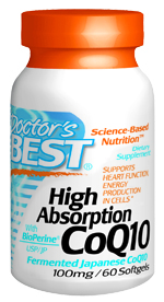 High Absorption CoQ10 contains pure, vegetarian source Coenzyme Q10 in a base of rice powder. In addition, High Absorption CoQ10 contains BioPerine, an herbal extract that enhances CoQ10 absorption..