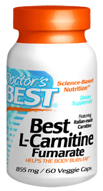 The L-Carnitine Fumarate in this product is derived from a base of pharmaceutical grade L-Carnitine manufactured by a patented, FDA-approved process. It is GMO-free, pesticide-free and BSE safe. Providing help to the body to burn fat for energy and maintain normal cardiovascular health..