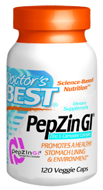 The proprietary chelation process along with excellent scientific research make PepZin GI your best choice for supporting gastric health..