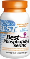 Each softgel of Best Phosphatidylserine provides 100 milligrams of brain-protective phosphatidylserine in a matrix of other important phospholipid cofactors to support healthy brain function. Research conducted over the last two decades supports the ability of phosphatidylserine supplementation to provide building blocks for healthy neurons, enhance cognitive function, provide support for mild memory problems associated with aging, and support for both mental and physical derived stress. *.
