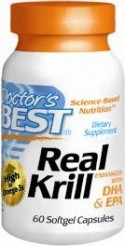 Premium source of Omega-3, Doctors Best Krill Oil enhanced with DHA and EPA..