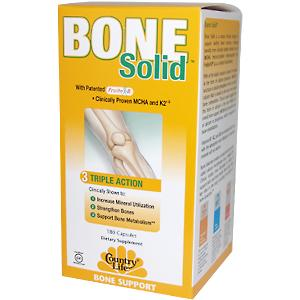 Bone Solid is a unique formula designed to support healthy bone structure, employing benefits from clinically studied nutrients such as MCHA (microcrystalline hydroxyapatite) and FruiteX B (a.k.a. calcium fructoborate)..