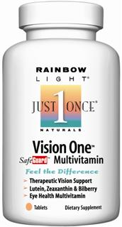 Vision One Multivitamin/Mineral                     Customized, energizing multivitamin support for healthy eyes and vision.