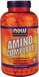 NOW Amino Complete contains a balanced blend of the following essential and non-essential amino acids: L-Alanine, L-Arginine, L-Aspartic Acid, L-Cysteine, L-Glutamic Acid, L-Glycine, L-Histidine, L-Isoleucine, L-Leucine, L-Lysine, L-Methionine, L-Ornithine, L-Phenylalanine, L-Proline, L-Serine, L-Threonine, L-Tryptophan, L-Tyrosine and L-Valine..