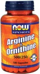 Arginine and Ornithine combines two essential amino acids into one optimal supplement. Arginine is necessary for urea metabolism, a process that prepares toxic ammonia for safe excretion by the kidneys. Ornithine is synthesized from Arginine and is a precursor of cityruline, proline and glutamic acid.* Both of these amino acids are popular with athletes and other active individuals..