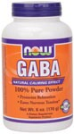 GABA (gamma aminobutyric acid) is a non-essential amino acid found mainly in the human brain and eyes. It is considered an inhibitory neurotransmitter, which means it regulates brain and nerve cell activity by inhibiting the number of neurons firing in the brain. GABA is referred to as the 'brain's natural calming agent'. By inhibiting over-stimulation of the brain, GABA may help promote relaxation and ease nervous tension.* NOW provides only the naturally occurring form as found in food and in the body.  Related Products.