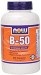 B-50 Capsules are a blend of key B vitamins combined with other nutritional factors for enhanced synergism. This formula provides recommended potencies of the most important B vitamins and is designed to supply your body's required daily intake in one complete supplement. Read FAQ's   Niacin - Forms and Safety.