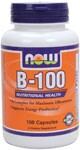 Nutritional Health  B-Complex for Maximum Effectiveness  Supports Energy Production* B-100 Caps are a blend of key B vitamins combined with other nutritional factors for enhanced synergism. This formula provides recommended potencies of the most important B vitamins and is designed to supply your body's required daily intake in one complete supplement.   Read FAQ's    Niacin - Forms and Safety.