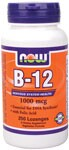 NOW B-12 1000 mcg with Folic Acid is an ideal way to supply the body with a perfect dose of this crucial nutrient. As an integral part in the lives of active and health conscious individuals, B-12 has gradually become recognized for its coenzymatic properties and important assistance for the production of healthy red blood cells..