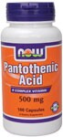 Pantothenic Acid is an essential member of the B-complex vitamins. NOW also distributes a full line of B-vitamins and hundreds of popular supplements..