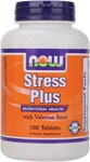 NOW Stress Plus is an exceptional and comprehensive formula of B Vitamins, enriched with Vitamin C (as ascorbic acid) and Valerian Root.  This proprietary blend is an ideal way to replenish the vital nutrients that we consistently expend on a daily basis. By promoting a calm attitude with just touch of valerian, NOW Stress Plus helps keep important water-soluble nutrients active in the body longer.*.