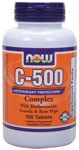 C-500 provides a potent dosage of this key vitamin and is blended with Bioflavonoids, Acerola, Rose Hips and Rutin, which are natural synergists to Vitamin C. Vegetarian Formula..