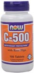 Antioxidant Protection with Rose Hips. Vegetarian Formula. C-500 provides a potent dosage of this key vitamin and is blended with Rose Hips, a natural source of Vitamin C and a synergist..