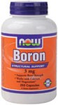 Boron is a biologically active trace mineral which affects calcium, magnesium, and phosphorus metabolism. Boron is known to support bone strength and structure. .