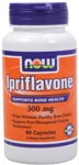 Supports Bone Health  Helps Maintain Healthy Bone Density  Supports Post-Menopausal Calcium Metabolism*  Ipriflavone, 7-isopropoxy-isoflavone, was synthesized in the late 1960s. Though produced synthetically today, it is a naturally occuring isoflavone and belongs to a group of compounds called bioflavonoids, which are found abundantly in plants..