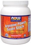 NOW Arginine Power Super Stack is the ultimate energy sports supplement that also supports optimal performance. Arginine Power Super Stack contains Creatine, Yerba Mate, Guarana, Rhodiola, Green Tea Extract. .