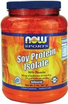 NOW Soy Protein is a good vegetable source of high quality complete protein that is very low in fat and carbohydrates and contains an excellent amino acid profile.  Soy products, including Soy Protein, are high in phytoestrogens, which may support healthy natural estrogen levels in women.  Soy Protein also provides beneficial proteins such as Genistein and Daidzein, which have been shown to support good health through various biochemical processes.     Diets low in saturated fat and cholesterol that include 25 grams of soy protein a day may reduce the risk of heart disease.  One serving of NOW Soy Protein Powder provides 21 grams of soy protein.   This product contains an average of 42 mg of Isoflavones per serving which have been shown to aid in maintaining good health.*    Read FAQ's    Read more about Sports Nutrition from Your Health Professor   Related Products .