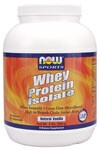 NOW Whey Protein Isolate is a high quality protein supplement that is both bioavailable and easily digested. Whey protein contains a high concentration of Branch Chain Amino Acids (BCAA's), which are important for efficient muscle metabolism..