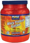 100% Pure  Mixes Instantly  Microfiltered  High in Branch Chain Amino Acids  Natural Unflavored  All Natural - No Aspartame, No Sucralose, No Acesulfame-K Voted 2005  and 2006 Whole Foods Magazine Best Sports Supplement    NOW Whey Protein Isolate is a high quality protein supplement that is both bioavailable and easily digested.  Whey protein contains a high concentration of Branched Chain Amino Acids (BCAA's), which are important for efficient muscle metabolism.*  These qualities make NOW Whey Protein Isolate an ideal supplement for active individuals.   Whey protein is considered to have the highest Biological Value of any protein source - superior in essential amino acid content to beef, milk, casein or soy.   Other delicious flavors available: Vanilla, Chocolate & Strawberry    Product FAQ's   Read more about Sports Nutrition from Your Health Professor   Related Products   .