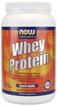 No Artificial Ingredients  Microfiltered  Ion-Exchanged  High in Branched Chain Amino Acids  Added Glutamine  Natural Vanilla  All Natural - No Aspartame, No Sucralose, No Acesulfame-K NOW Whey Protein is a delicious blend of three of the highest quality whey protein concentrates and isolates from around the world:  Microfiltered, Ion-Exchanged and Enzymatically Hydrolyzed (partially predigested). This blend of specially processed whey proteins is designed to maximize amino acid absorption and Biological Value (BV). Extra L-Glutamine has been added (460 mg per serving) because of its important role in protecting muscle tissue from breaking down under stressful, vigorous physical activity.*   Whey protein is considered to have the highest Biological Value of any protein source - superior to beef, milk, casein or soy.   Since 1968, NOW has earned a valued reputation for producing quality products at reasonable prices.  Our Quality Assurance and Quality Control teams of certified nutritionists, chemists and technicians thoroughly evaluate all products, processes, packaging and sources.  Our responsiblity and pledge is to honestly and accurately label quality products that are fresh and effective.    Read FAQ's   Read more about Sports Nutrition from Your Health Professor   Related Products   .
