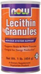 "97% Phosphatides  Pure and Fresh  Vegetarian Product Lecithin is a naturally occurring compound found in all cells in nature, plant and animal.  It plays a major role in almost  all biological processes - including nerve transmission, breathing and energy production.  The word Lecithin is taken from the Greek Lekithos, which means ""egg yolk"".  A fitting name for this essential nutrient for the egg is considered a symbol of life, strength and fertility.  Lecithin is considered a symbol of life, strength and fertility.  Lecithin is  important for all of these biological functions and more.  Our brain is approximately 30% Lecithin.  The insulating myelin sheaths that protect the brain, spine and thousands of miles of nerves in your body are almost two-thirds Lecithin.  Even the heart has a high concentration of Lecithin.  Lecithin is composed of many different components, including Choline, Inositol, Linoleic Acid, Phosphatidylserine, beneficial fatty acids and triglycerides.  These valuable constituents of Lecithin are vital for the proper functioning of many metabolic  processes.*  NOW Lecithin Granules are derived entirely from soybeans.  Look for other NOW natural products at health food stores nationwide.    Lecithin: A Forgotten Giant?   Lecithin and Phosphatides."