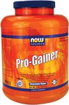 NOW Pro-Gainer is a dynamic blend of egg, whey and casein proteins designed to increase weight and muscle mass. Research shows that multiple sources of protein provided the best results, especially when taken throughout the day to keep amino acid levels peaked. If you're not getting enough protein, your body can start to catabolize other tissues for the amino acids necessary to repair muscle tissue - not good. We've included a unique enzyme blend for superior digestibility, ensuring maximum absorption and utilization of the nutrients in this formula, particularly calories, carbohydrates and proteins. Pro-Gainer also provides a potent vitamin and mineral complex to support good nutrition helping to replenish nutrients that are lost during intense training, and added Glutamine and Taurine for extra antioxidant protection and the proven results these amino acids provide. Add it all up, and you've got the most effective mass and muscle building product available!*  Available in delicious Vanilla flavor.   Product FAQ's.