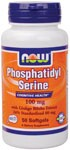 NOW Phosphatidyl Serine with Ginkgo Biloba combines two powerful nutrients that work synergistically with one another supporting healthy cognitive function..