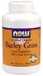 Barley Grass is a whole food supplement grown and processed on fertile organic Kansas soil. Dehydrated whole leaf Barley Grass includes the natural juice and fiber found in Barley Grass.   Read more about NOW's 100% Organic Barley Grass.   Product FAQ's  NOW Organic Products   .