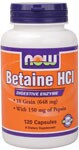 Combines Betaine Hydrochloride (naturally occurring in beets) with Pepsin that is standardized to National Formulary requirements.