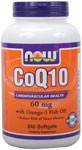 Coenzyme Q10 is a vitamin-like compound also called ubiquinone.  It is an essential component of cells and is necessary for mitochondrial energy production.  Years of research has shown that CoQ10 supports healthy cardiovascular and immune system functions in addition to its vital role in energy production.*  NOW uses only the 100% natural, all-trans form of CoQ10.    Consumption of Omega-3 fatty acids may reduce the risk of coronary heart disease.  FDA evaluated the data and determined that, although there is scientific evidence supporting the claim, the evidence is not conclusive.    Read more about Coenzyme Q-10   Related Products   Product FAQ's   Read more about Cardiovascular Health from Your Health Professor .