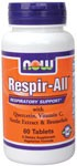 Respir-All is a synergistic combination of key vitamins, minerals and herbal extracts that nutritionally support healthy respiratory functions..