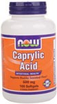 Intestinal Health  Supports Healthy Intestinal Flora* NOW Caprylic Acid is a naturally derived nutrient traditionally used to support internal wellness.  Also known as octanoic acid, Caprylic Acid is a short-to-medium chain fatty acid (MCT) that is naturally found in coconut and palm kernel oil.  Caprylic Acid supports healthy digestion through its ability to promote a healthy balance of intestinal flora..