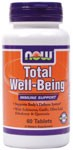 Now Foods has formulated Total Well Being tablets to harness the power of Vitamin C, Zinc, Echinacea, Olive Leaf, American Ginseng and more in the fight against damaging free radicals, while enhancing our response to stress..