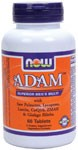 with Saw Palmetto, Lycopene, Lutein, CoQ10, ZMA & Ginkgo Biloba  Vegetarian Formula All other male multiples are now obsolete with the introduction of our new ADAM Male Multivitamin formula. Heres why:  Contains 10,000 IU beta carotene from a vegetarian source, with mixed carotenoids  Inositol hexanicotinate for vitamin B-3  the superior form nutritionists recommend  B-6 derived from P-5-P, a more bioavailable and efficient form  B-12 as methylcobalamin, the most active co-enzyme form  Includes patent-pending ZMA, a chelated zinc supplement popular with active individuals  160 mg of Saw Palmetto  important for every man over 30  100 mg of energizing Panax Ginseng  standardized for maximum effectiveness  50 mg of the powerful metabolic antioxidant Alpha Lipoic Acid  rarely found in other multiples  5 mg of CoQ10 and 30 mg of Ginkgo Biloba  ideal for men of all ages  guaranteed potencies  High levels of Lycopene and Lutein, carotenoids critical for prostate and eye health  Iron-free formula offers the best value on the market for premium male multiples  Available in both tablets and vegetarian vcaps Many multiples on the market today contain unnecessary levels of excipients and added ingredients. ADAM is formulated to contain the lowest levels of these unneeded additional ingredients, leaving more room for higher levels of the nutrients men need to maintain optimum health.*    Niacin - Forms and Safety   Disintegration of Tablets   Read more about multi-vitamin formulas from Your Health Professor   Related Products.