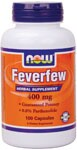 Herbal Supplement  Standardized Extract  0.8% Parthenolide Feverfew is a popular herb and is botanically related to the sunflower.  Feverfew has been an herbal remedy in Europe for centuries.  Recent scientific research in Great Britain has confirmed some of its famed historical uses.  NOW Feverfew Extract naturally contains min. 0.8% Parthenolide..
